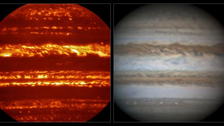 Glorious, glowing Jupiter awaits Juno's arrival