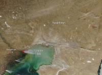 Caspian Sea Shore Fire in Kazakhstan