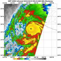 Suomi NPP Image of Hurricane Patricia