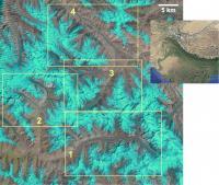 Satellite Image of the Central Karakoram