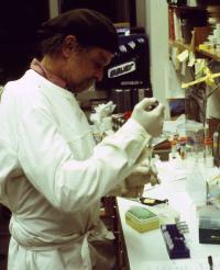 Joe Davis in MIT Laboratory