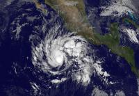 GOES-West Image of Sandra