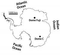 Figure 1: Dome Fuji and Dome C
