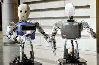 Ntu-Built Social Robots, Edgar 1 (Right) And Edgar 2 (Left)