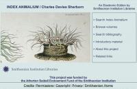 Sherborn's Index Animalium