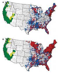 Blacklegged Tick Distribution Maps