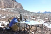 Working in University Valley, Antarctica