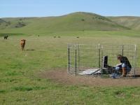 Temporary Seismic Station near Cholame, California