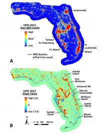 Florida Artificial Light Levels, 1992-2012