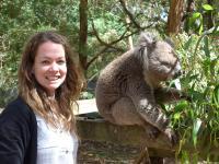 Elizabeth Neilson and a Koala