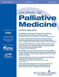 <I>Journal of Palliative Medicine</I>