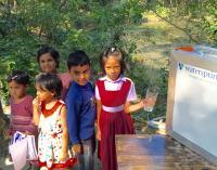 Children Drinking Water in Bangladesh