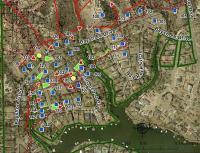 Map Showing Behavior of 2011 Amarillo, TX, Wildland Fire