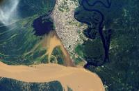 An Aerial View of Iquitos, Peru