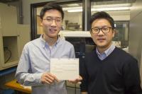 Jason Kim and Howon Lee, assistant professor, Rutgers University