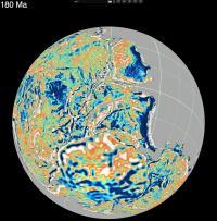 Reconstruction of Pangea 180 Million Years Ago