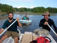 Researchers in Boat