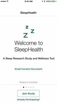 SleepHealth App Screen