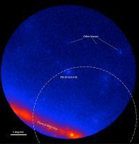 Fermi LAT Images Showing the Gamma-Ray Sky around the Blazar PKS B1424-418