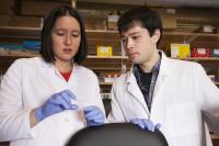 Bree Aldridge and Owen Bennion, Tufts, University, Health Science Campus