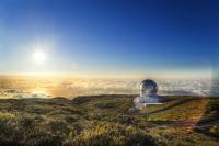 The Gran Telescopio CANARIAS (GTC), in the Observatorio del Roque de los Muchachos (La Palma)