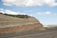 Outcrop in Southeastern Utah's Carmel Formation