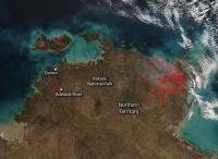 Northern Australia Fires Dot Landscape