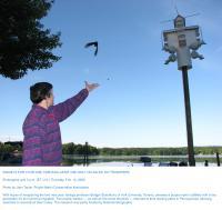 Scientist with Bird