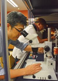 Drs. Hideyuki Matsunami and Young-Ho Yoon Working in the Laboratory