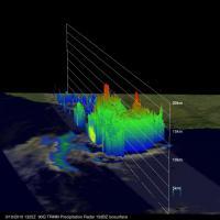 TRMM 3-D Image of Tropical Storm 90Q