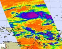 NASA Infrared Image of TD 02W