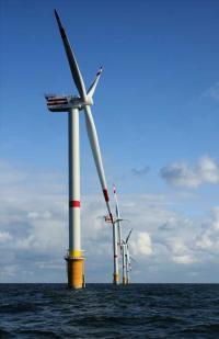 Wind Farm in the North Sea off Belgium
