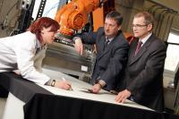 Yvonne Wilke, Dr. Volkmar Stenzel and Manfred Peschka, Fraunhofer-Gesellschaft