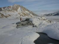 Lost Hammer Spring on Axel Heiberg Island, Nunavut Territory, Canada