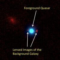 Quasar Acts as Gravitational Lens (1 of 2)