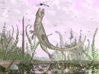 Artist's Rendering of <I>Pakasuchus</I>
