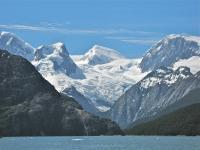 Glaciated Cordillera Darwin in Tierra del Fuego, Chile