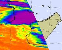 NASA Infrared Data Show Bingiza's Heaviest Rains Over Water