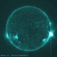 NASA Sees Sun Shoot an M7.7 Class Solar Flare on July 19, 2012