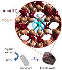 Iron Oxide Electron Hopping