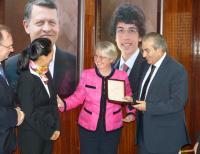 Dr. Reiner Haseloff, Dr. Mi-Yong Lee, Dr. Annette Schavan, and Maher Abu Al-Samin
