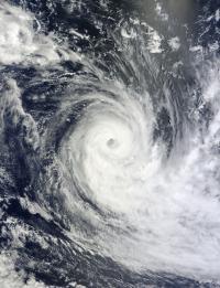 NASA's Terra Satellite Visible Image of Tropical Cyclone Gino