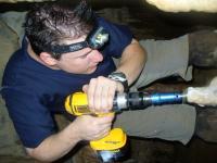 Jud Drilling Stalagmite