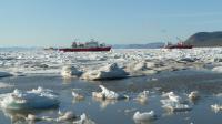 Ships in Isfjorden near Longyearbyen, Svalbard