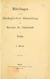 <i>Mitteilungen aus dem Museum f&#252;r Naturkunde</i>