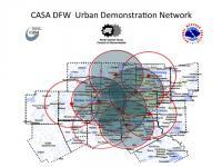 CASA Dallas Mesonet Map