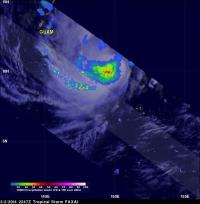TRMM Sees Faxai's Rainfall Rates