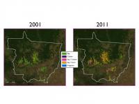Agriculture in Mato Grosso, Brazil 2001-2011
