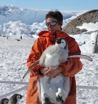 Jenouvrier with Juvenile Emperor Penguin
