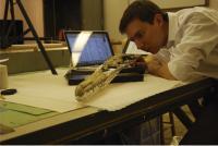 Dr. Daniel Ksepka Studies Skull of <I>Pelagornis sandersi</I>